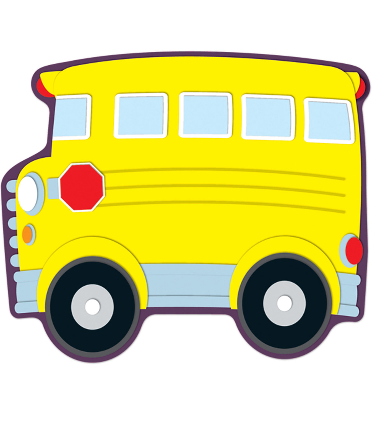 School Bus Accents 36/pk, Set Of 6 Packs