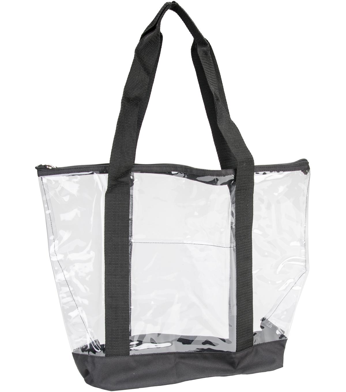 All Purpose Clear Tote Bag 19 U0022x14 U0022x6 U0022 Black