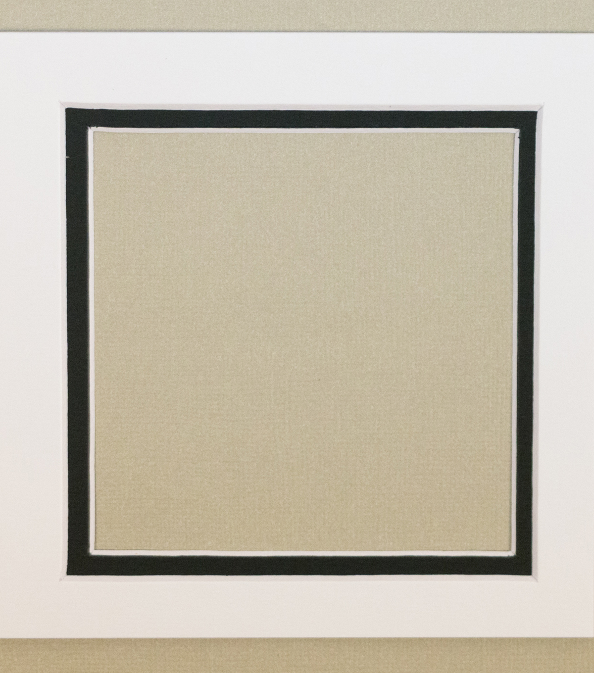 Framing Mat 5X5-White & Black