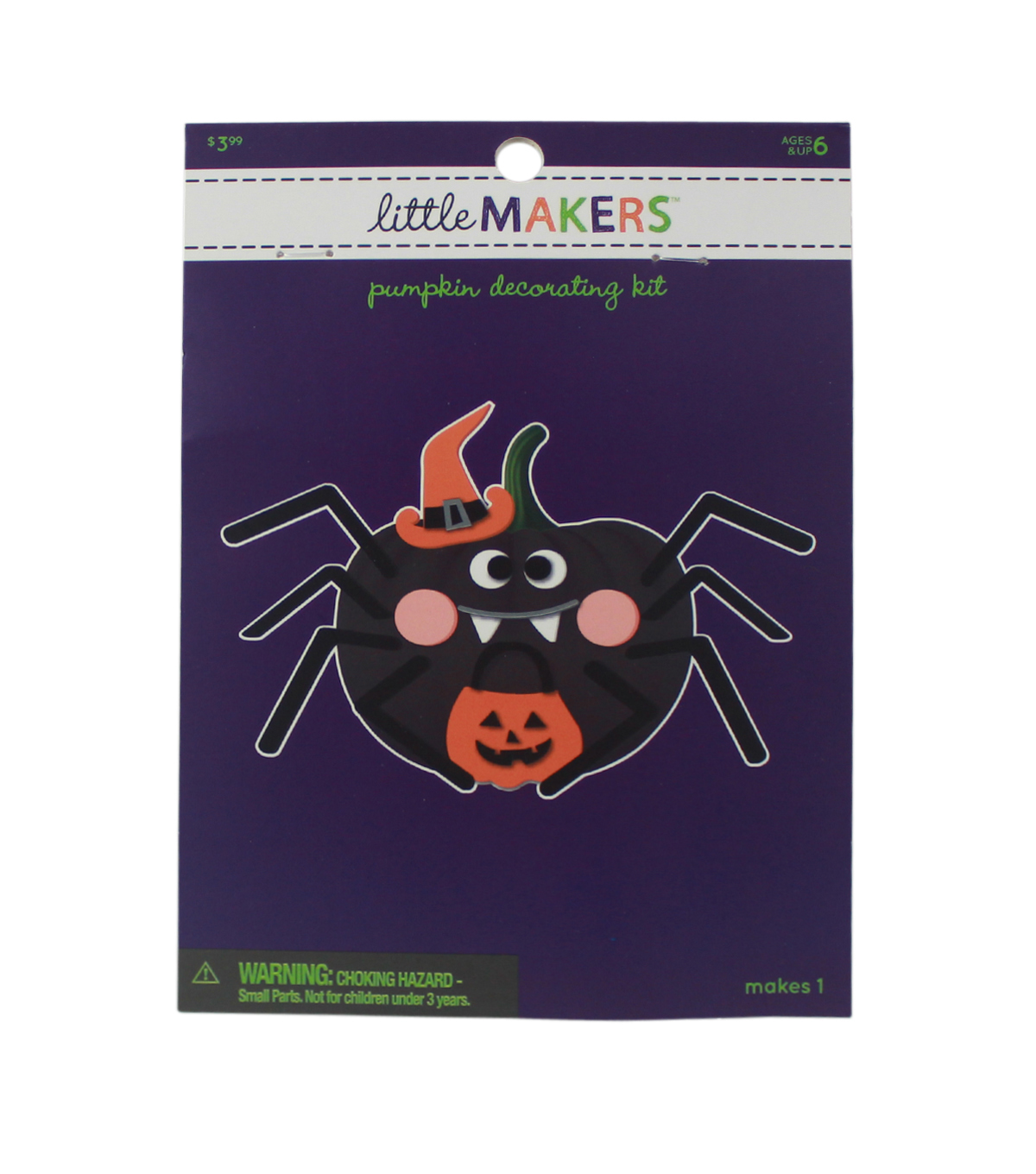 Little Makers Halloween Foam Pumpkin Decorating Kit-Spider