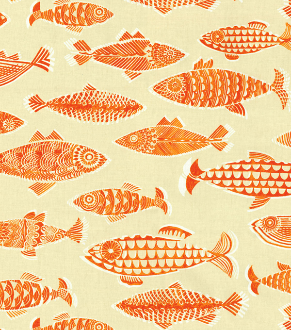 Tommy Bahama Lightweight Decor Fabric 54\u0022-Fishful Thinking/Coral Reef