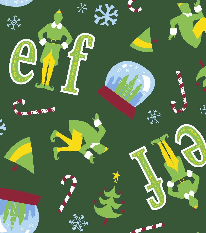 elf fleece fabric 59u0022 snowglobe