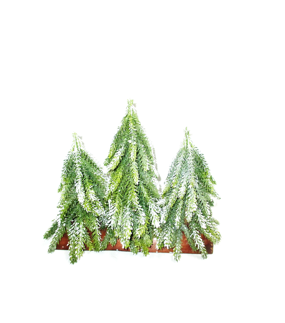 Maker\u0027s Holiday Christmas Trees on Wood Base