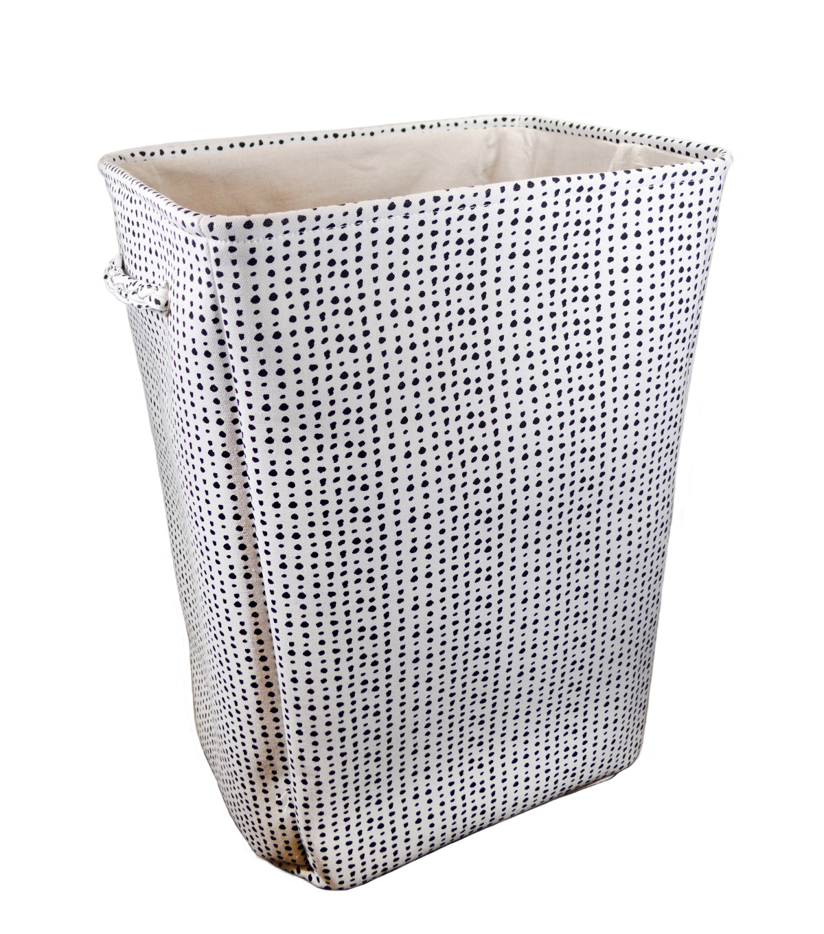 Extra Large Fabric Hamper-Black Dots