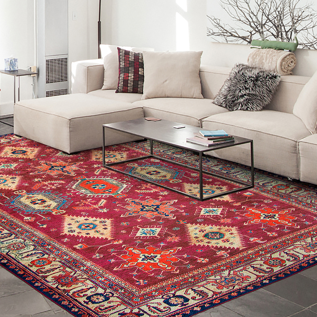 Local Stabilizers Rug.Ruggable Washable 8x10 Area Rug Noor Ruby
