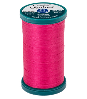Coats & Clark Outdoor 200yd Thread, Coats Outdoor 200yd Brt Rose