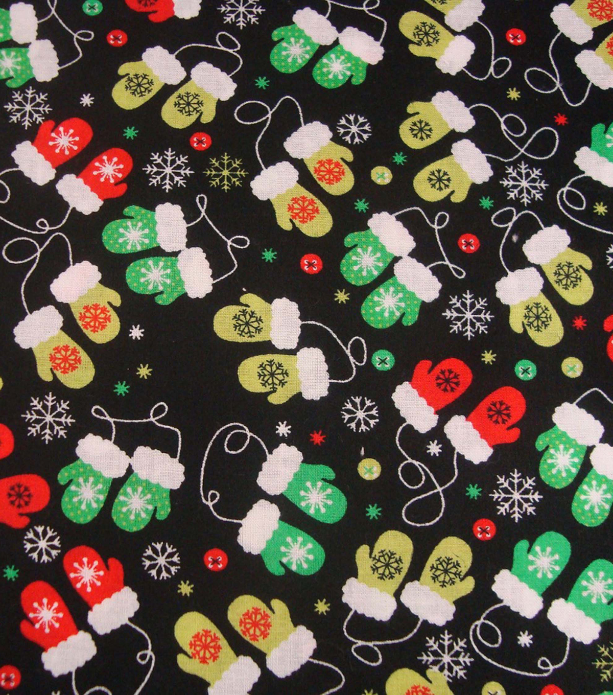 Holiday Cotton Fabric -Mini Mittens