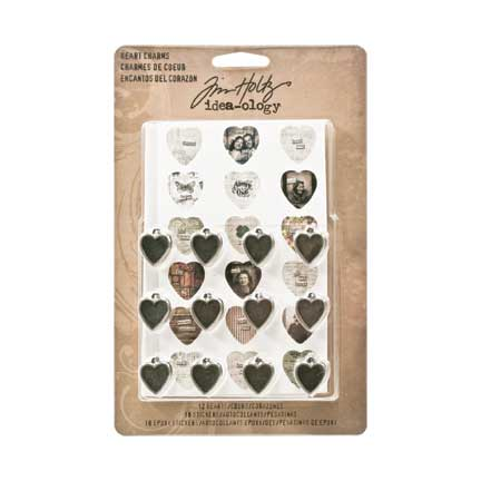 Heart Charms, 12 pack