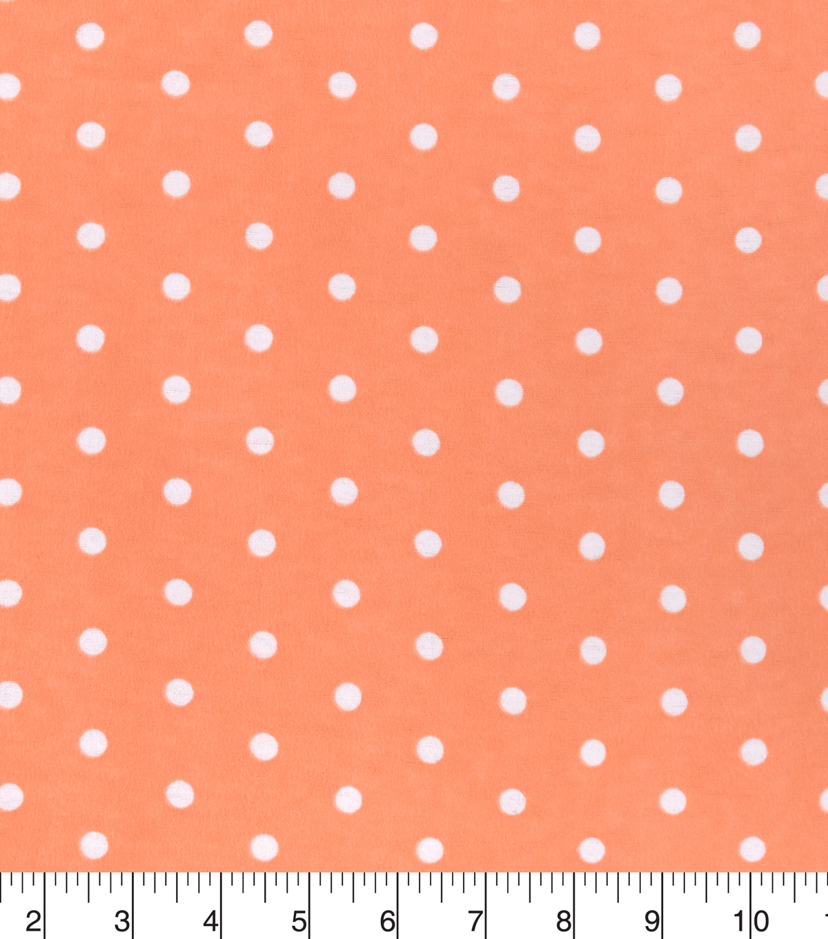 Snuggle Flannel Fabric 42\u0027\u0027-Dots on Papaya Punch