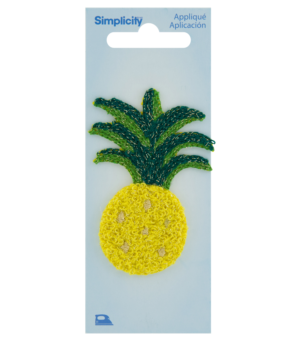 Simplicity Pineapple with Green Leaves Iron-on Applique