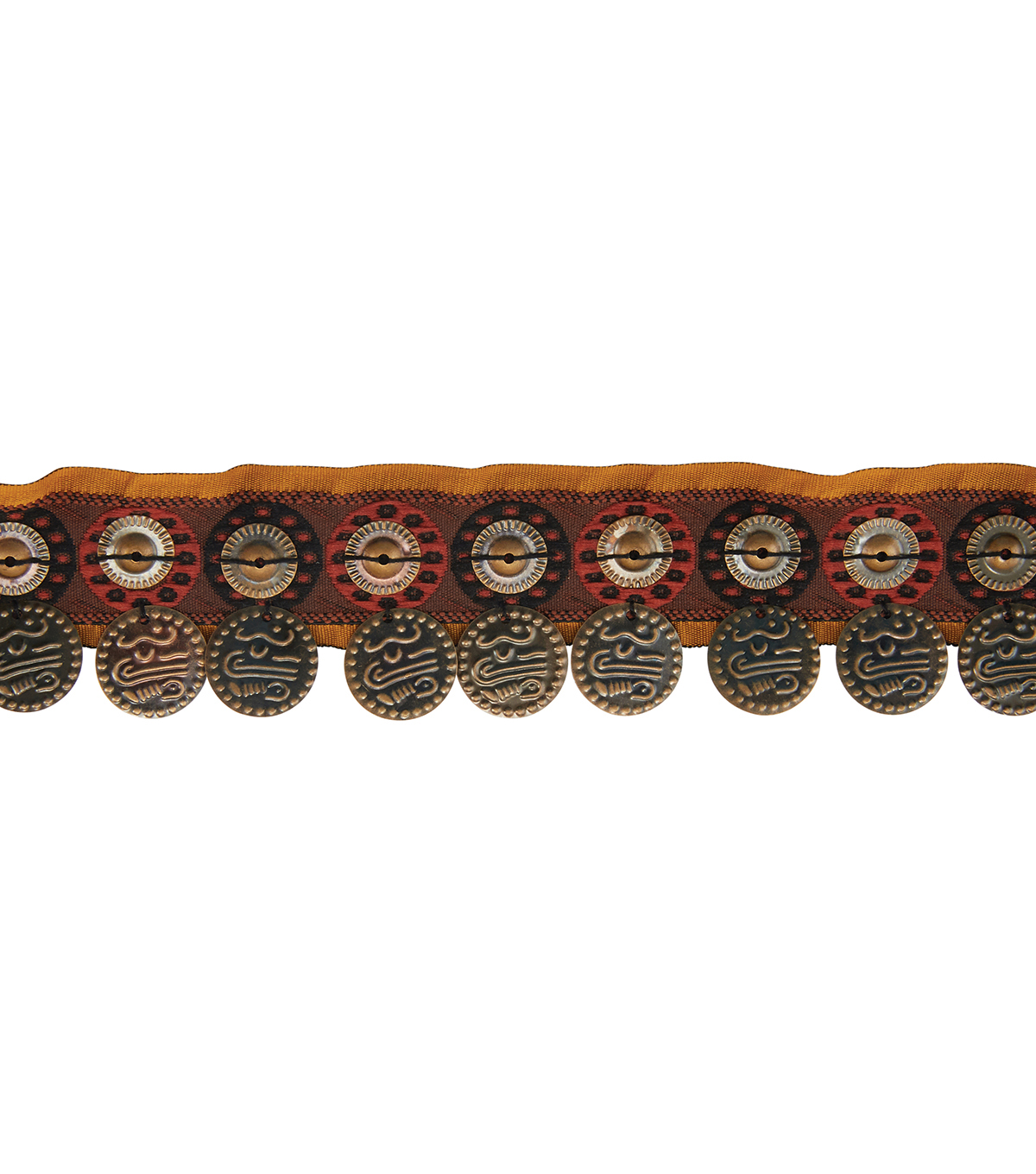 Yaya Han Collection Red/Brown Tribal Coin Trim