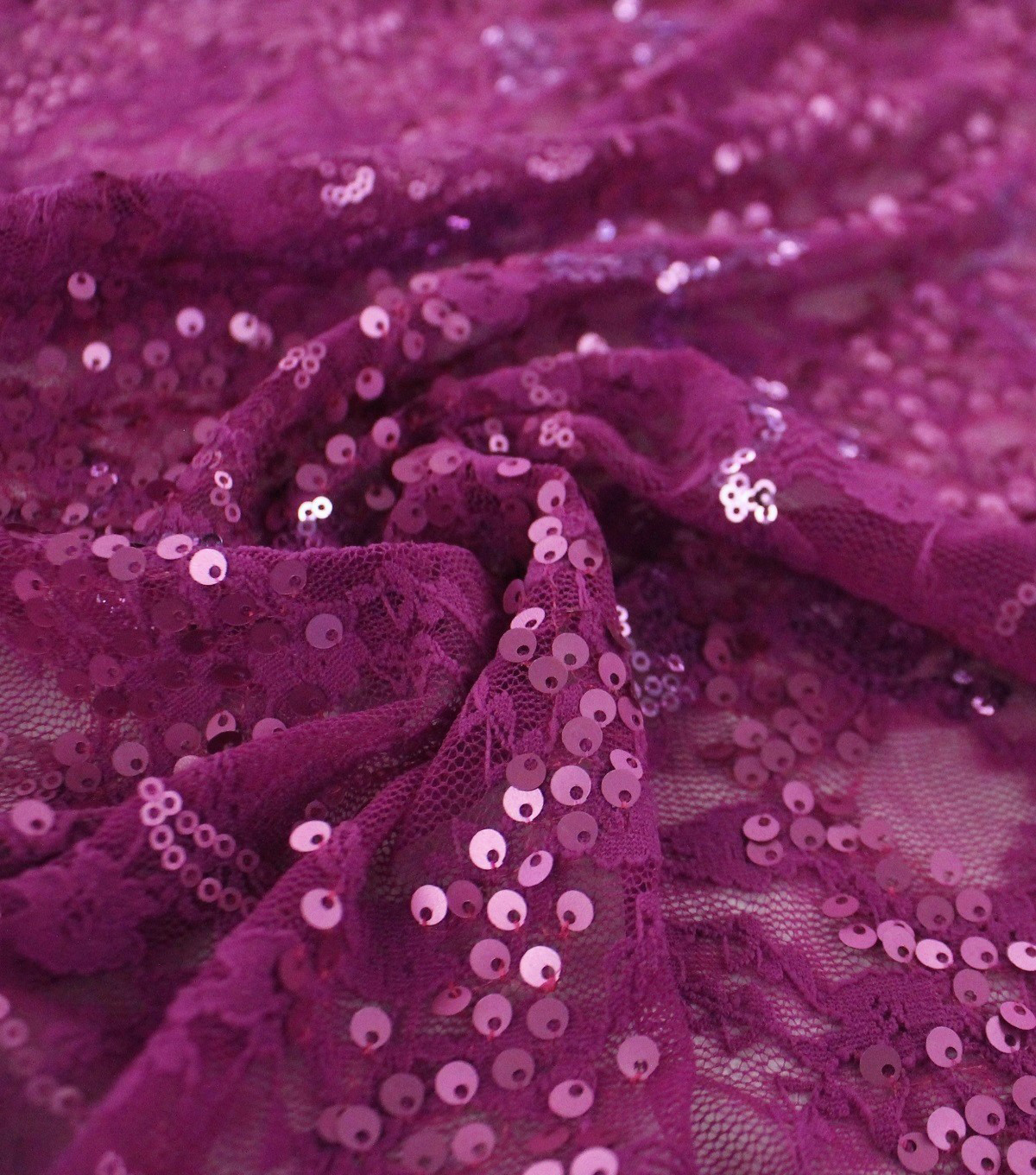 Performance Stretch Chelsea Sequin Apparel Fabric-Matte Magenta