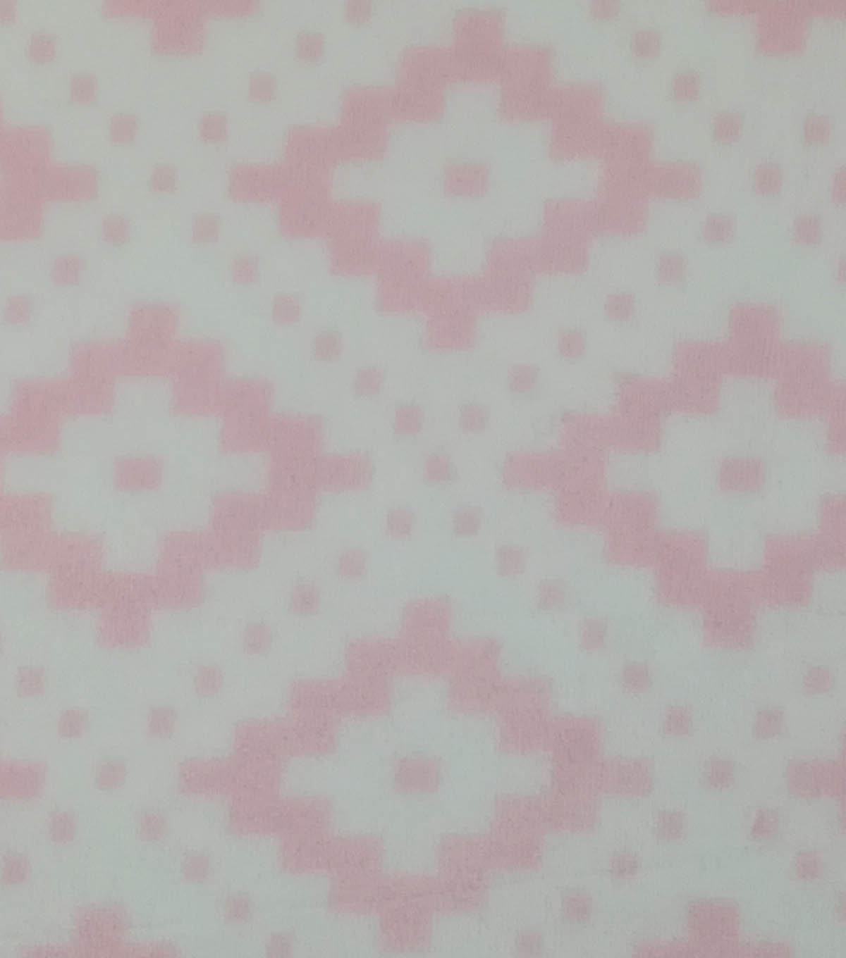 Sew Lush Fleece Fabric 57\u0022-Pink Geometrics