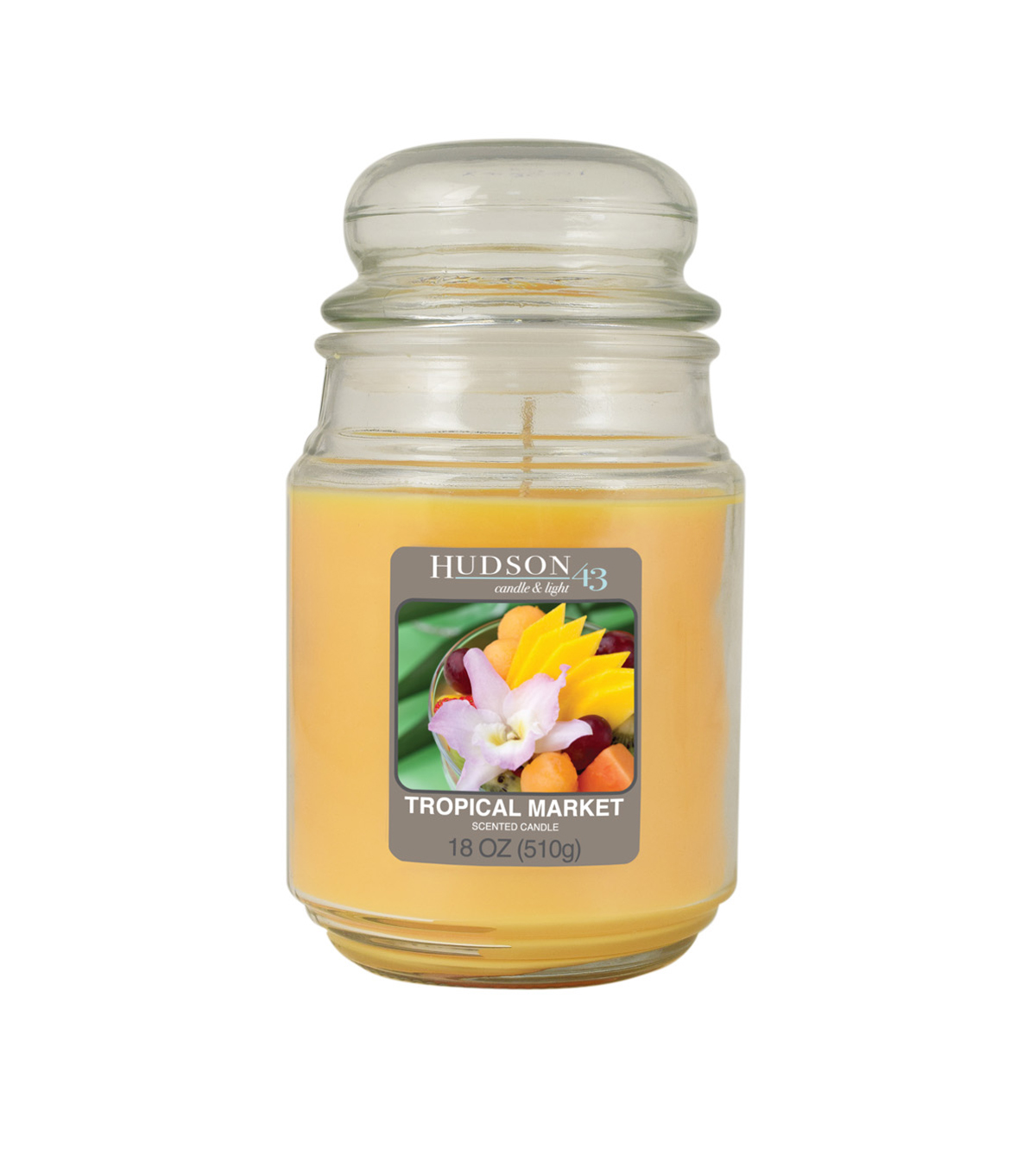 Hudson 43 Candle & Light Collection 18oz Value Jar Tropical Market