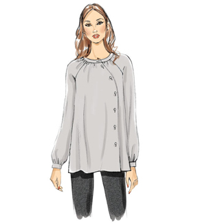 Vogue Pattern V9206 Misses\u0027 Asymmetrical Top & Tunics-Size 6-8-10-12-14