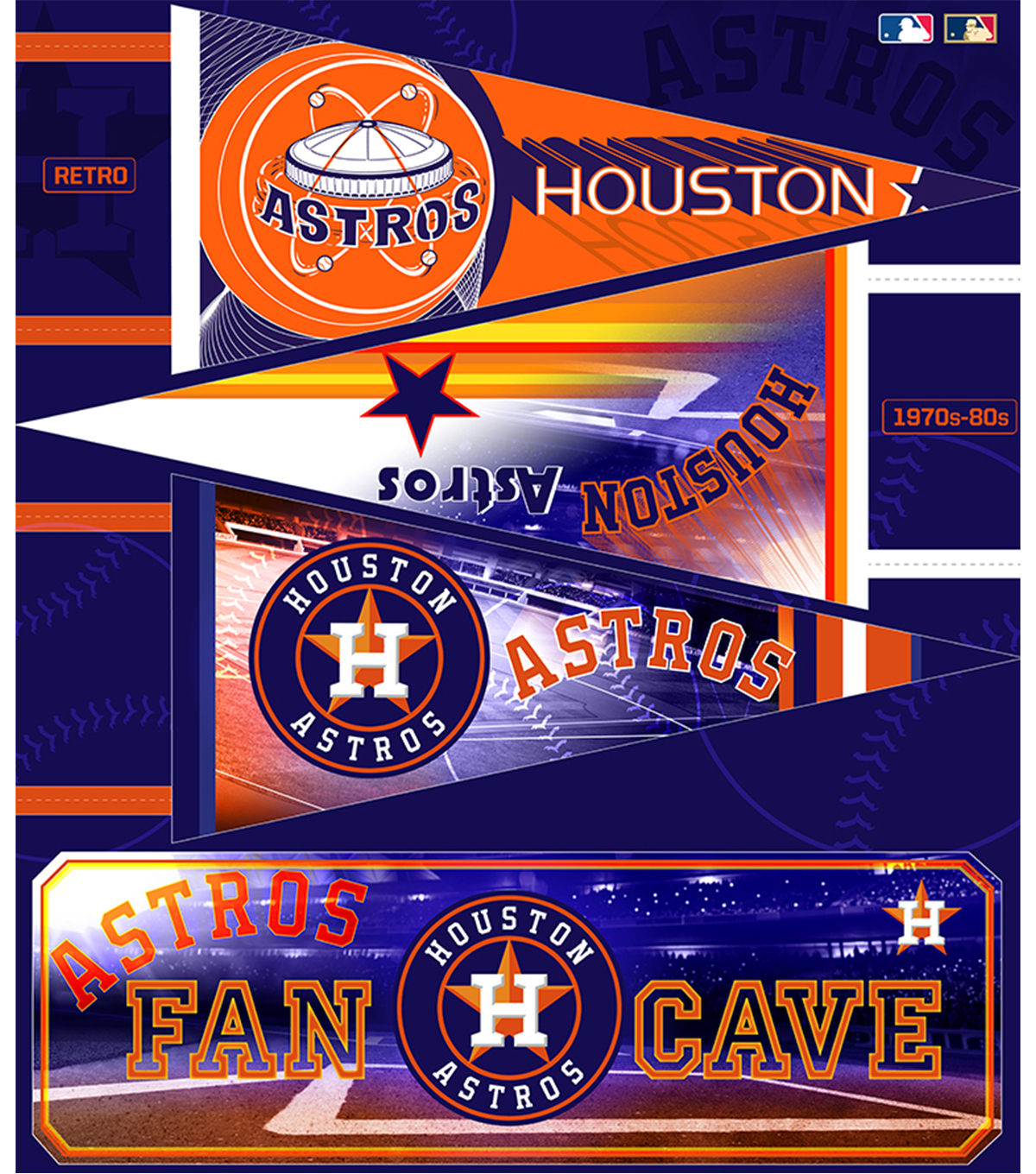 Houston Astros Felt Panel 36\u0027\u0027-Pennant