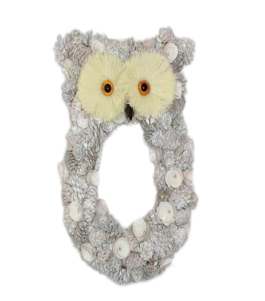 Blooming Holiday Wood Chip Owl Wall Decor