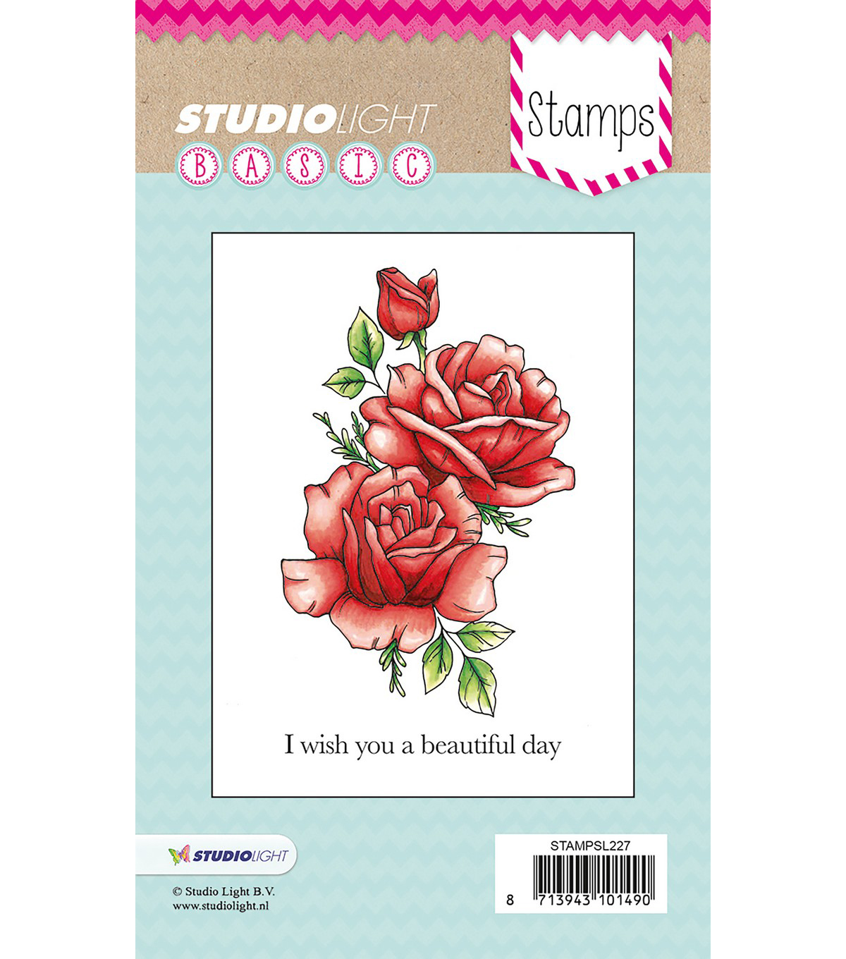 Studio Light Basic 2 pk Stamps-I Wish You a Beautiful Day