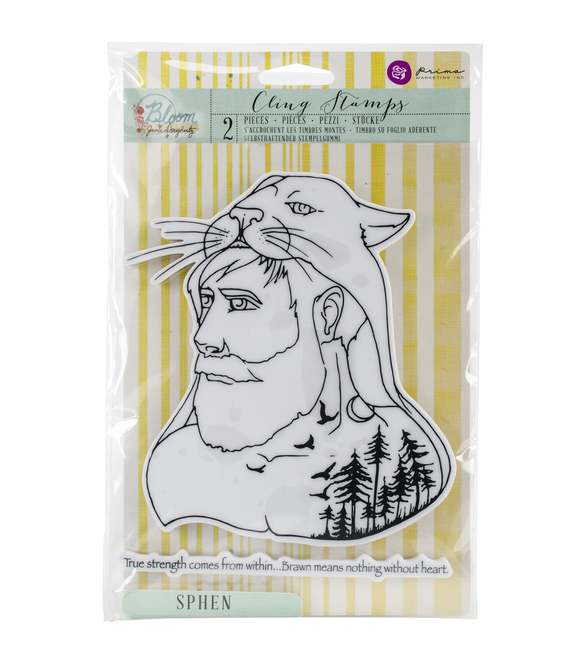 Prima Marketing Bloom Cling Rubber Stamps-Sphen