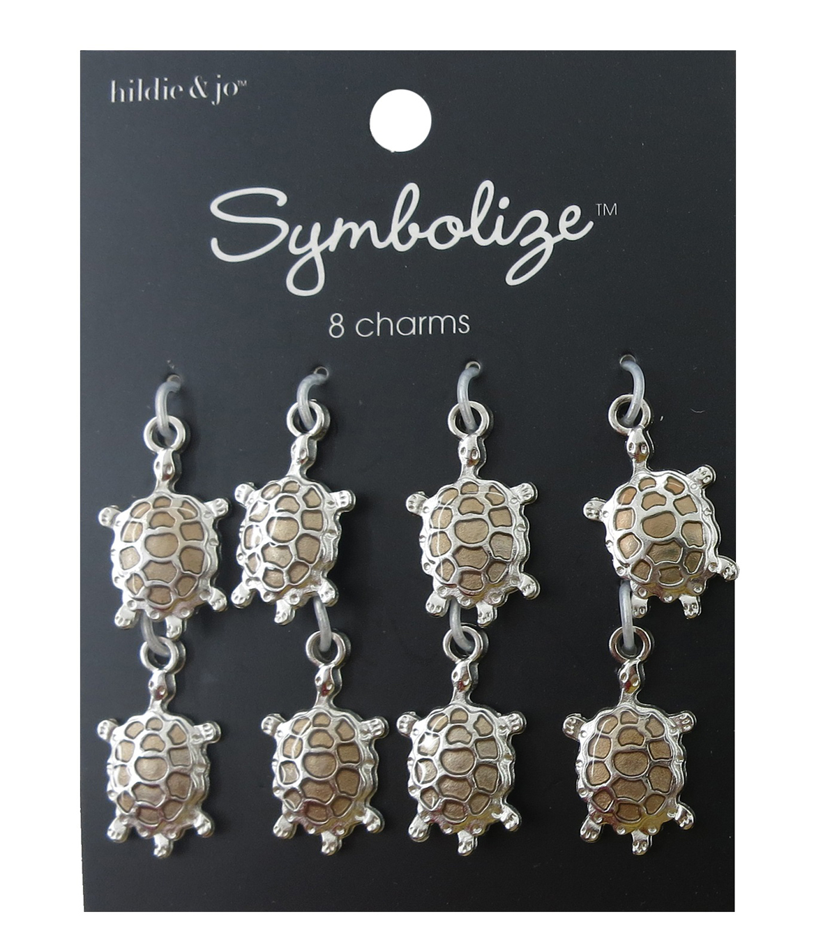 hildie & jo Symbolize 8 Pack Turtle Silver Charms