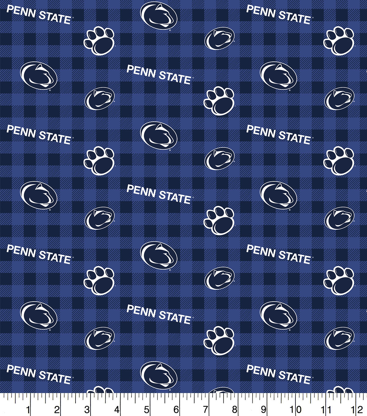 Penn State Nittany Lions Flannel Fabric-Checks