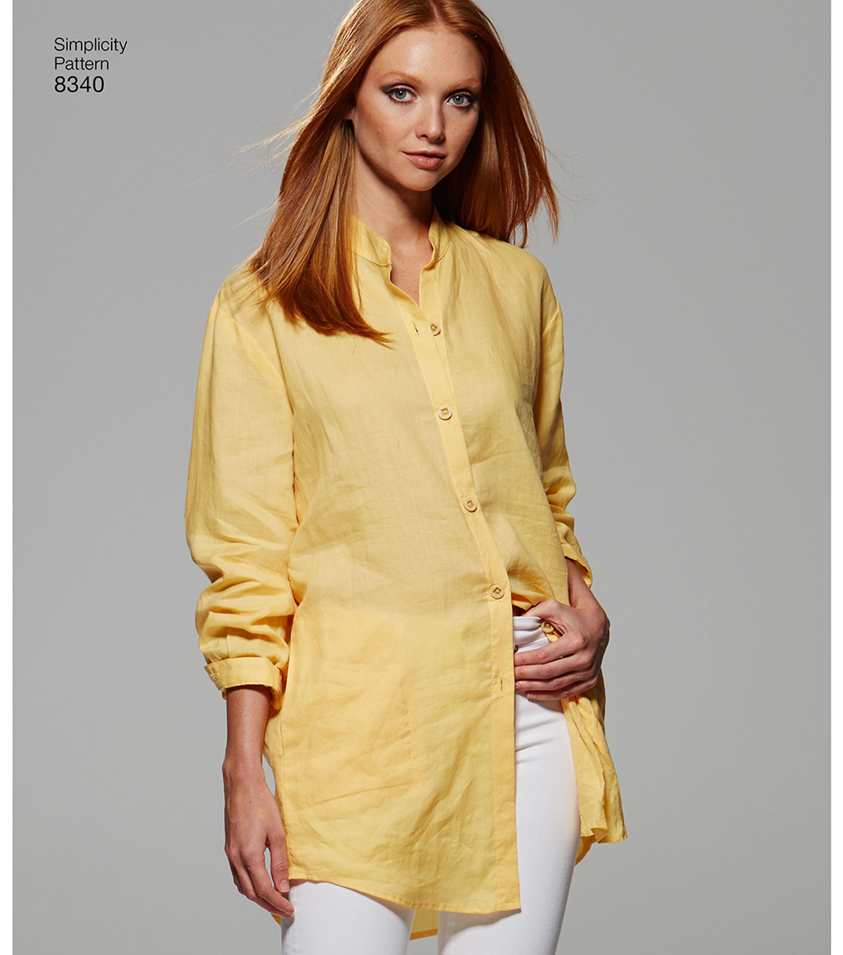 Simplicity Pattern 8340 Misses\u0027 Project Runway Shirts-Size P5 (12-20)