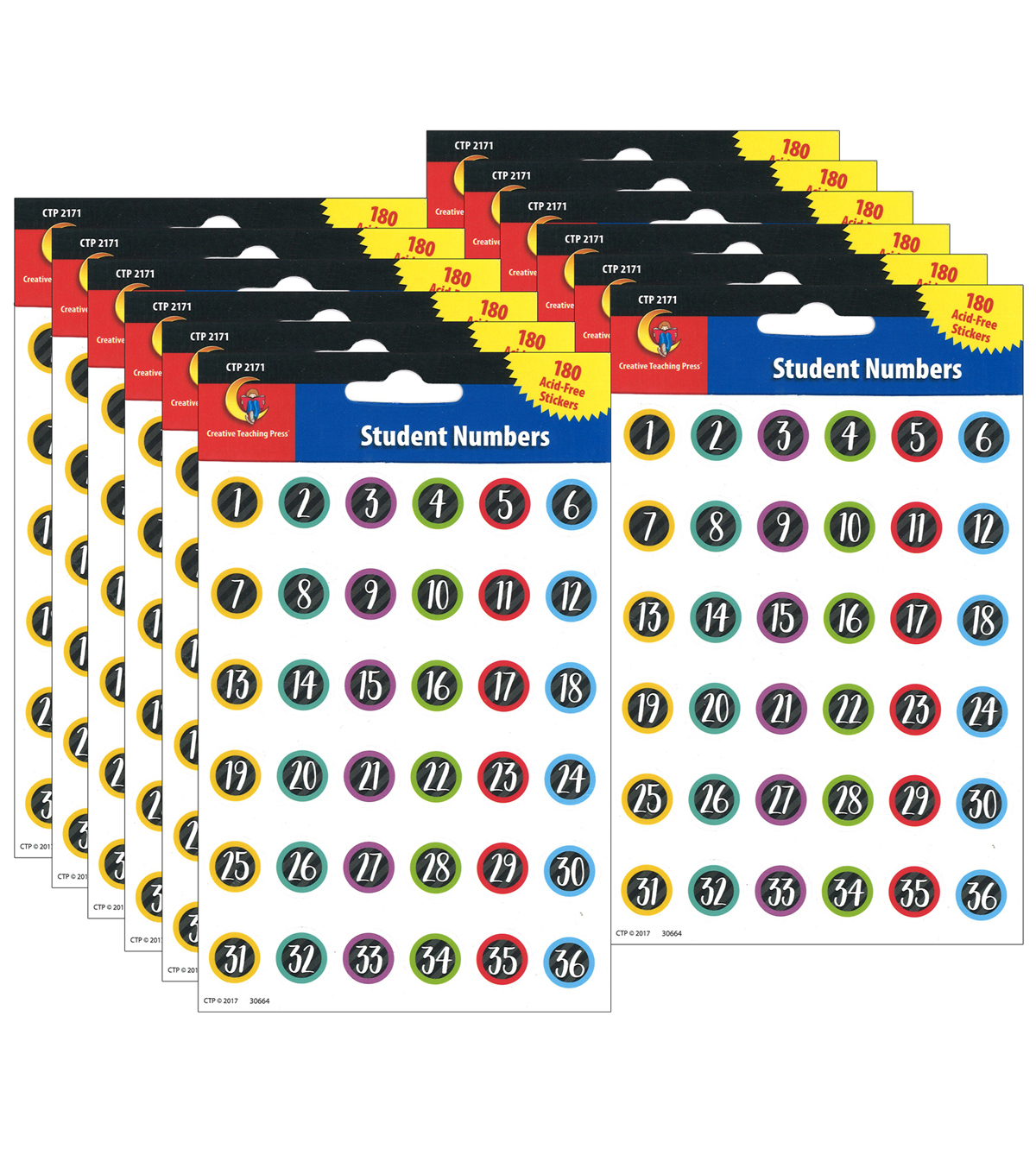 Creative Teaching Press Student Number Stickers 112 Packs