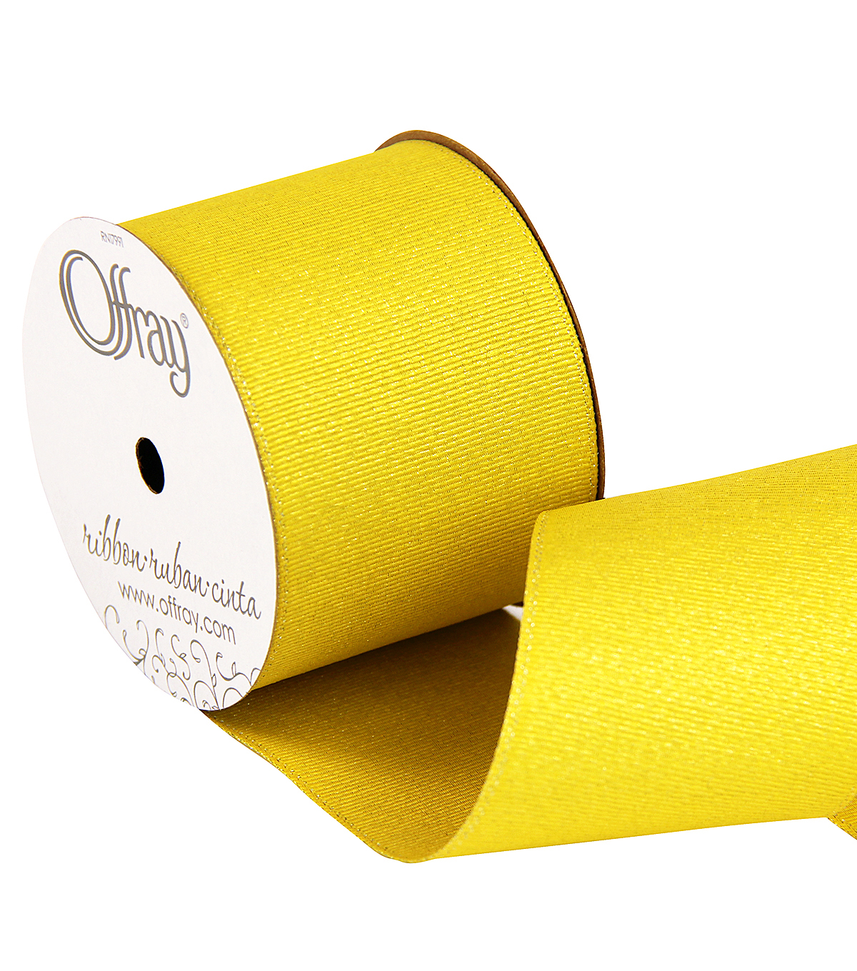 2 And One Qtr Grosgrain Glitz Daffodil Ribbon