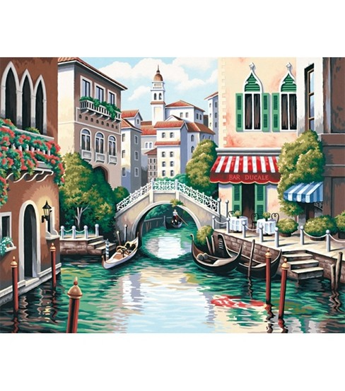 Paint By Number Kit 20\u0022X16\u0022-Scenic Canal