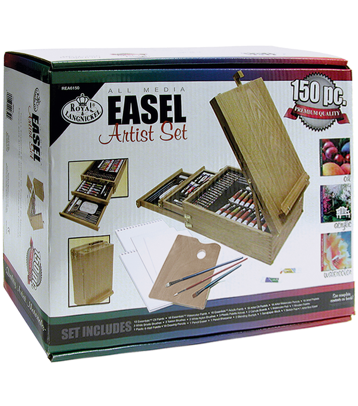 Royal Brush Easel Artist Set-All Media-150 Pieces
