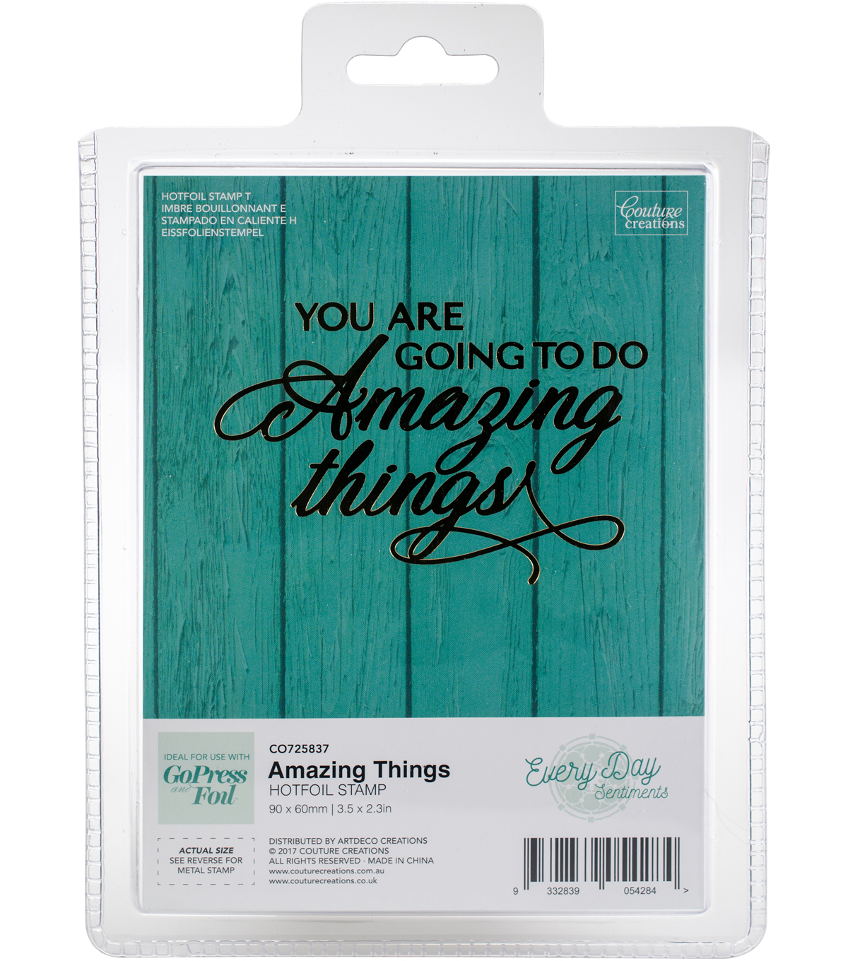 Couture Creations Every Day Sentiments Hotfoil Stamp-Amazing Things