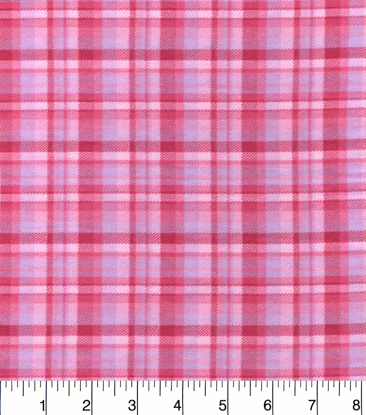 Snuggle Flannel Fabric 42\u0022-Pink Plaid