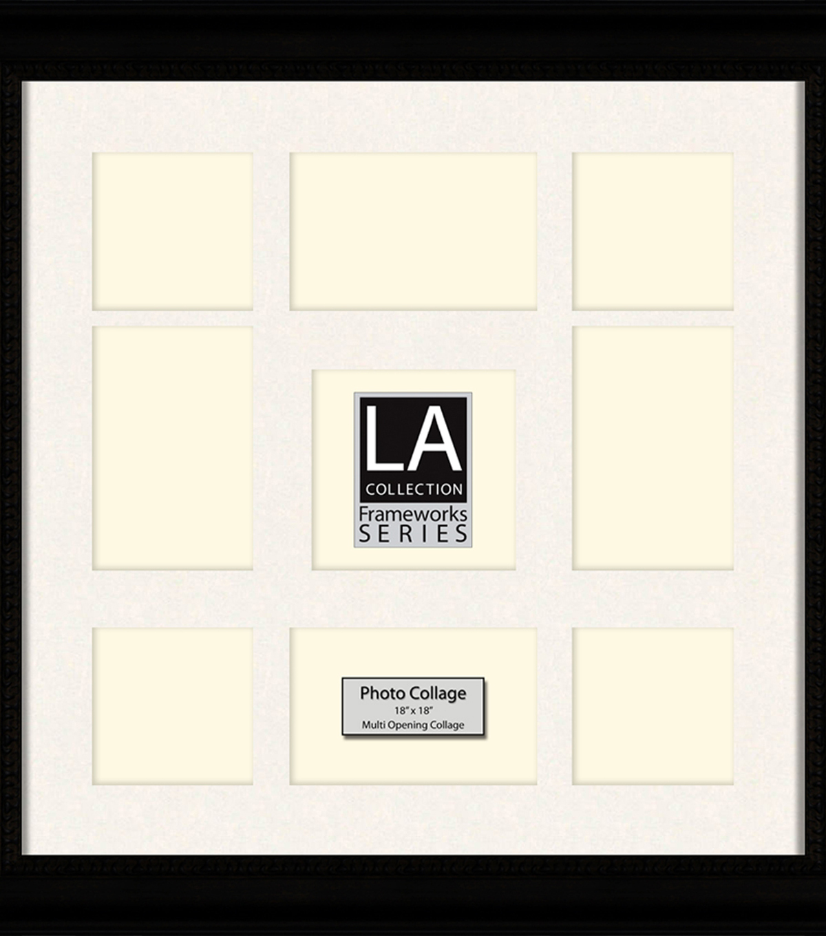 b48bee5b03b LA Collection Collage Frame 18x18-Black Cream