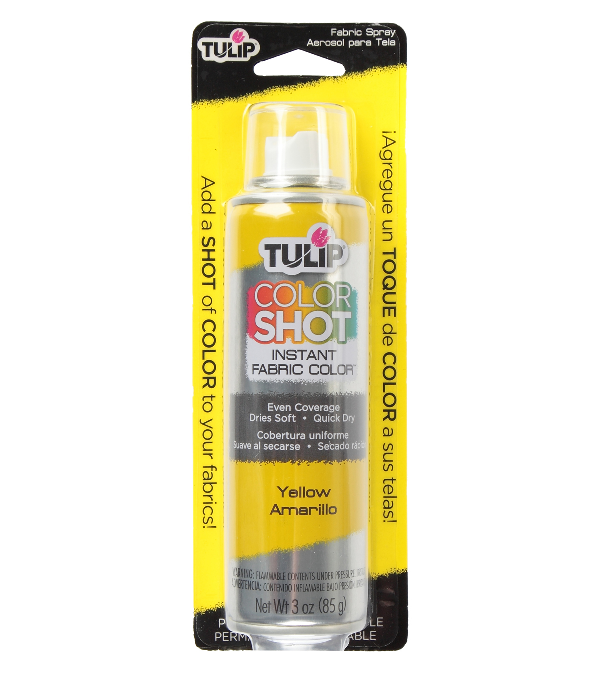 Tulip ColorShot Instant Fabric Color Spray 3oz, Yellow