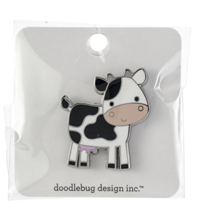 Doodlebug Design Collectible Enamel Pin-Cow
