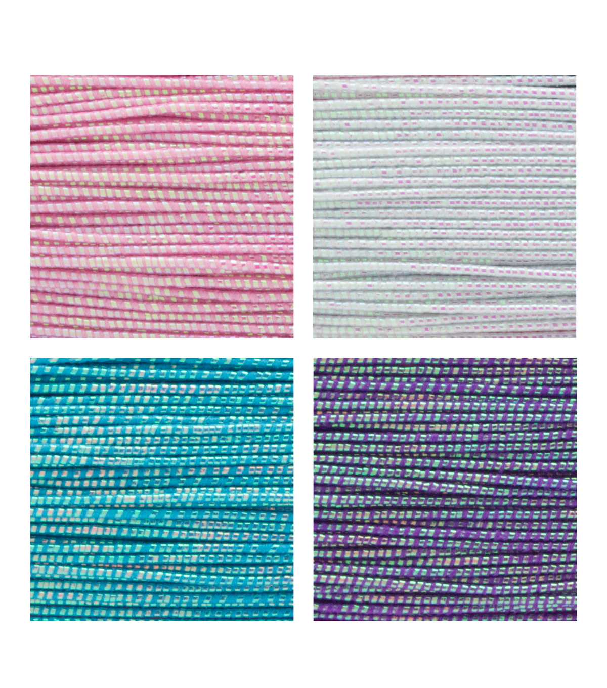 LaurDIY 4 pk 40 yds Stretch Cords-Iridescent