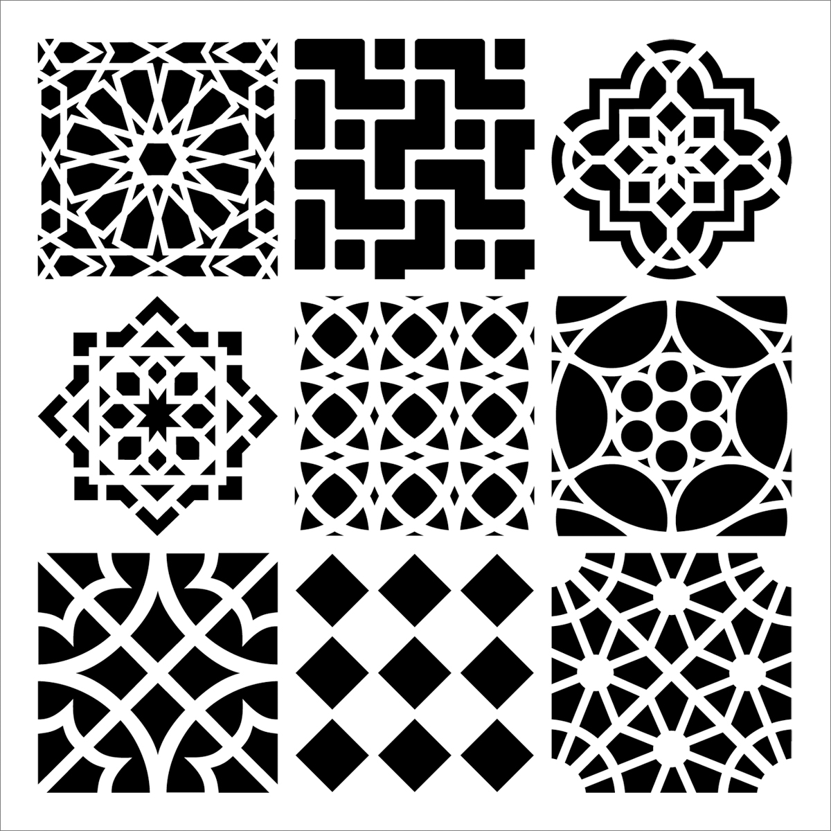 Crafters Workshop Templates Moroccan Tiles Joann