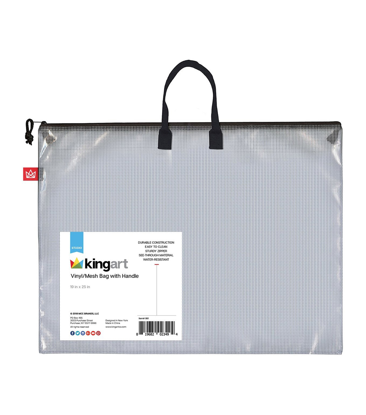 KINGART Vinyl Mesh Bag W/Handle -19\u0022X25\u0022