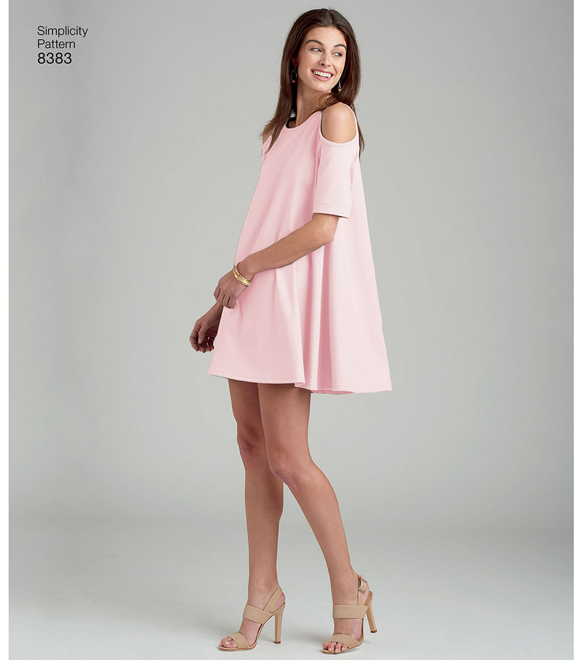 Simplicity Pattern 8383 Misses\u0027 Knit Trapeze Dress-Size R5 (14-22)