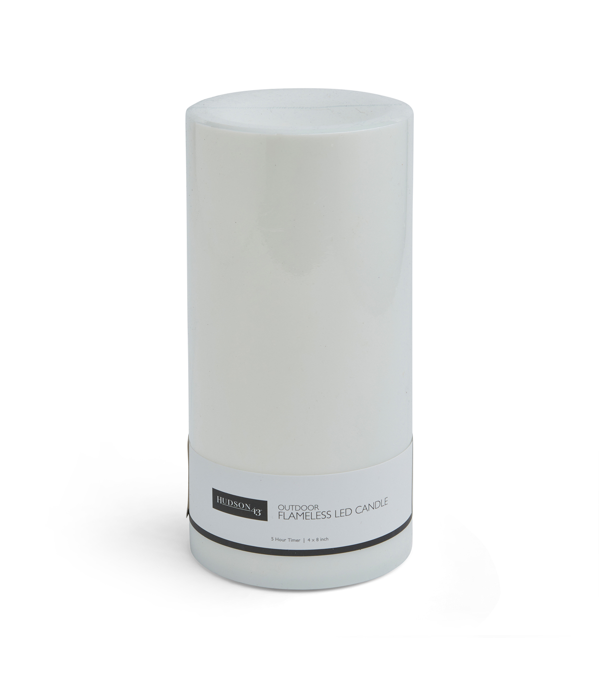 Hudson 43 4\u0027\u0027x8\u0027\u0027 Outdoor Plastic Pillar Candle