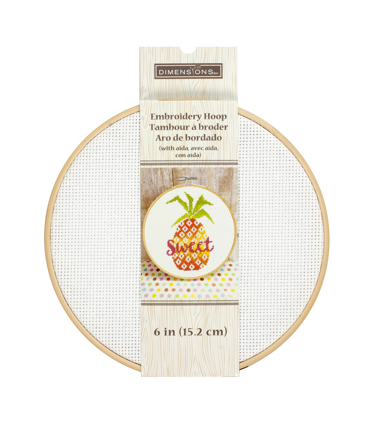 Dimensions Embroidery Hoop with Aida 6\u0022-White