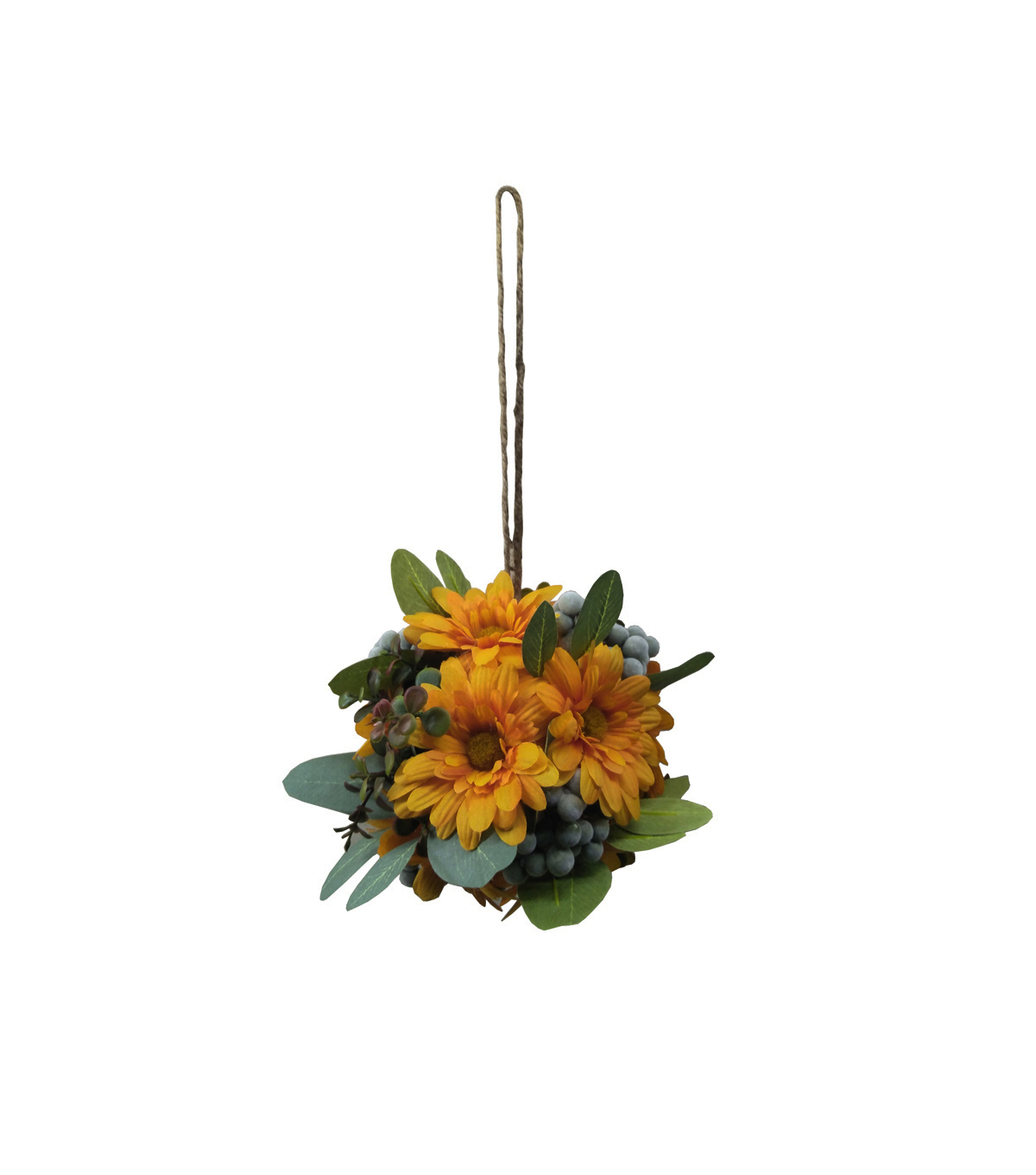 Blooming Autumn Small Daisy, Berry & Leaf Kissing Ball