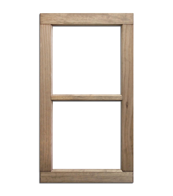 Salvaged 2 Pane Weathered Wood Window Frame | JOANN