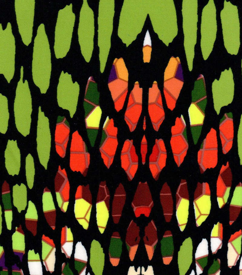 Nicole Miller Scuba Knit Fabric-Stained Glass Multi