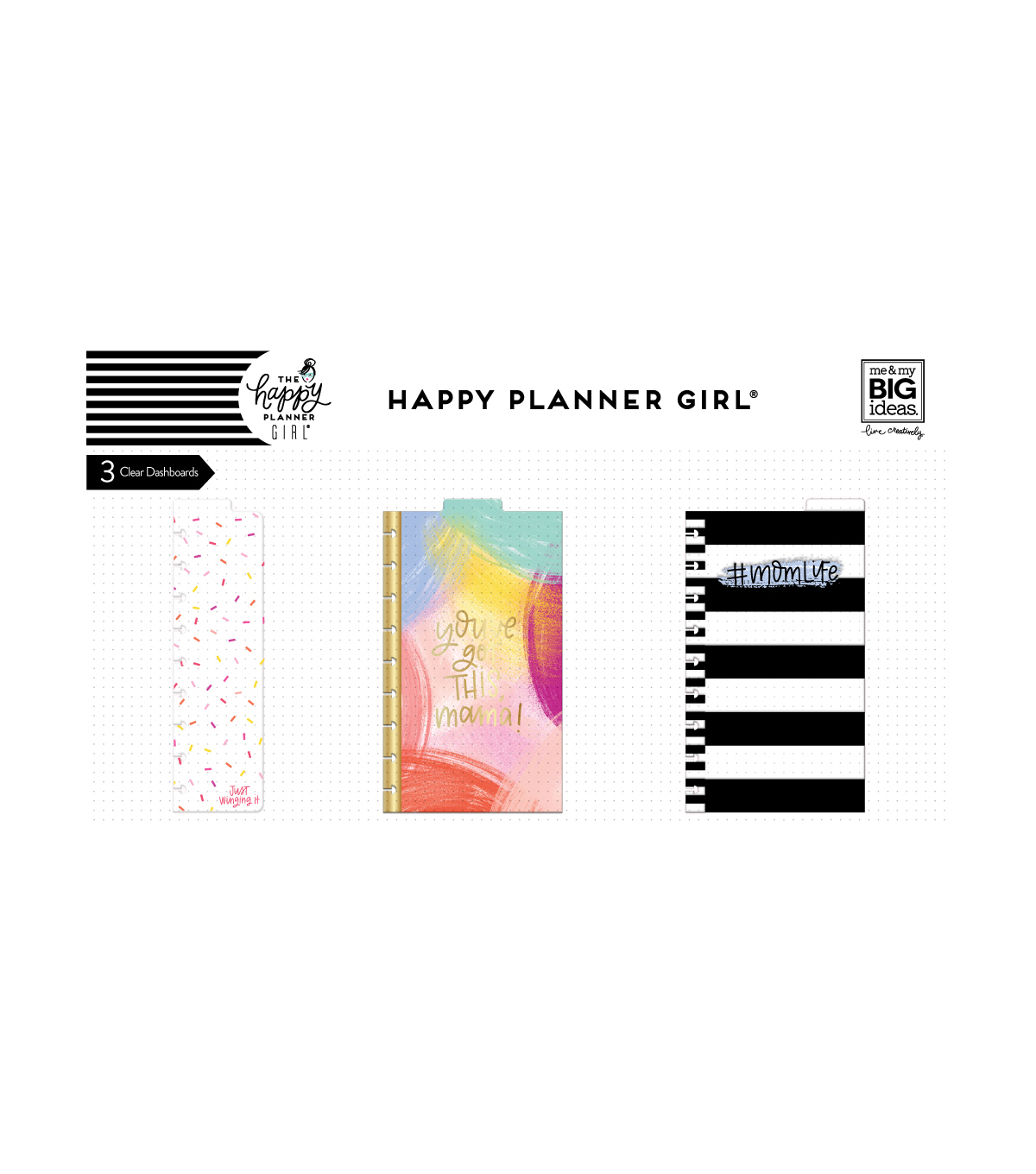 The Happy Planner Girl Classic Dashboards-Super Mom