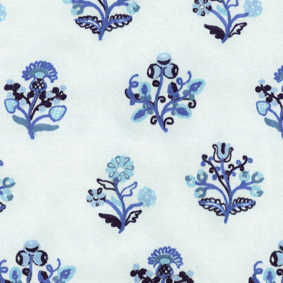 Williamsburg Lightweight Decor Fabric-Esra Embroidery/Porcelain
