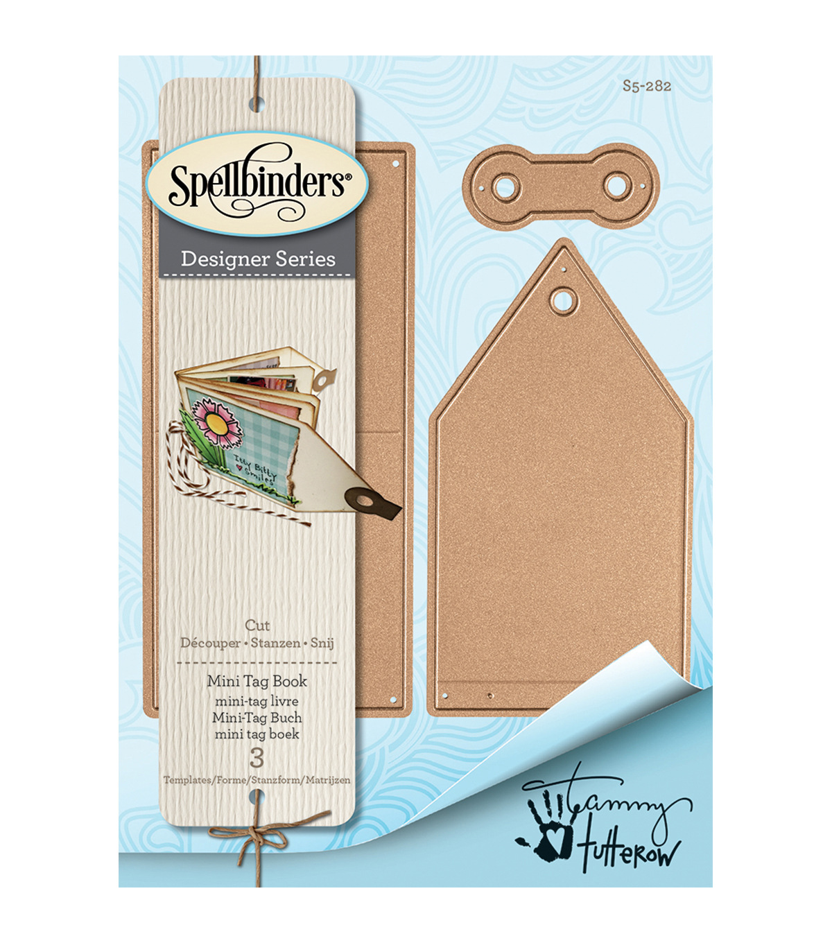 Spellbinders Shapeabilities 3 Pack Etched Dies-Mini Tag Book