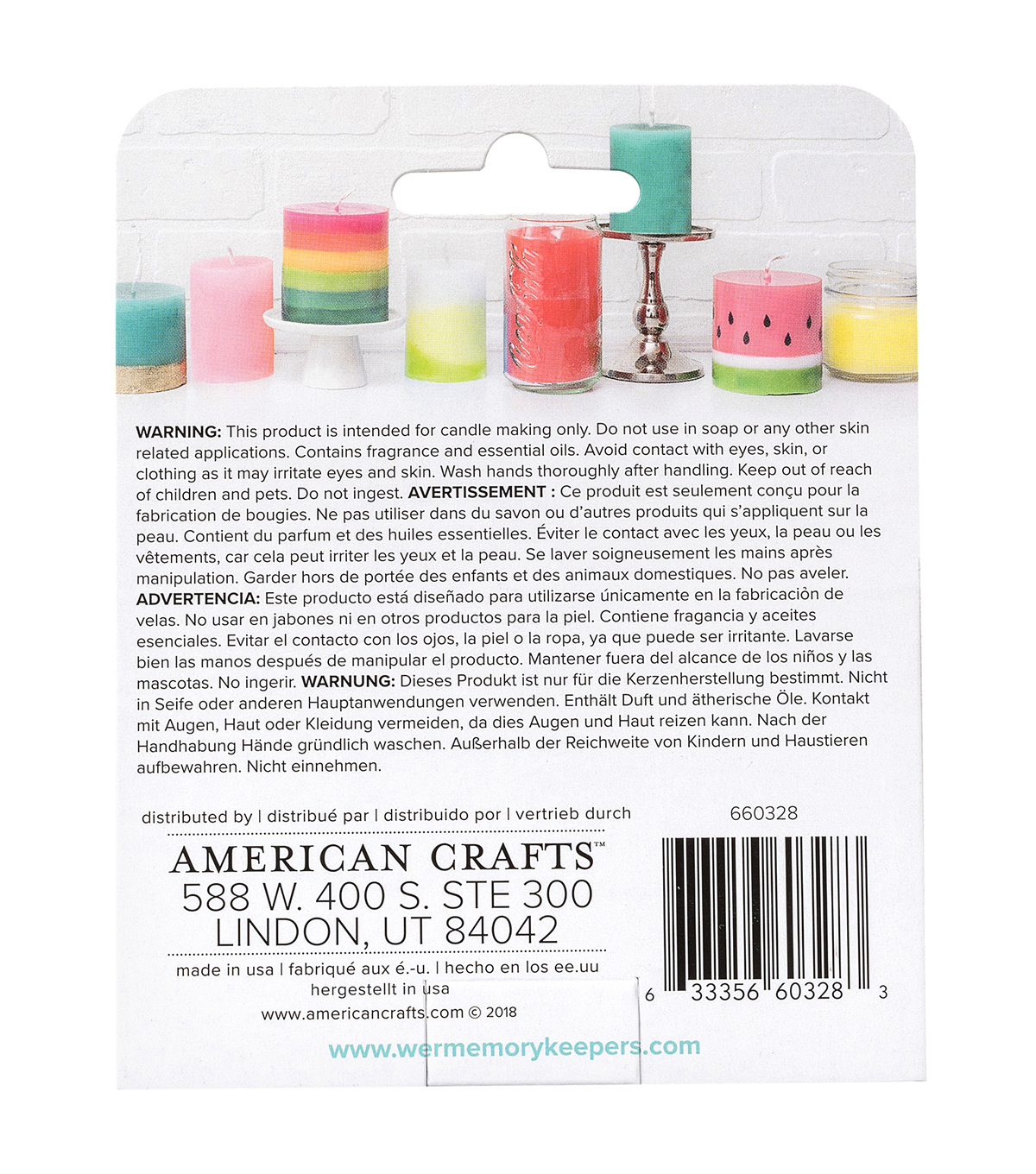 We R Memory Keepers 3 pk Wick Fruit Smoothie Candle Making Scents