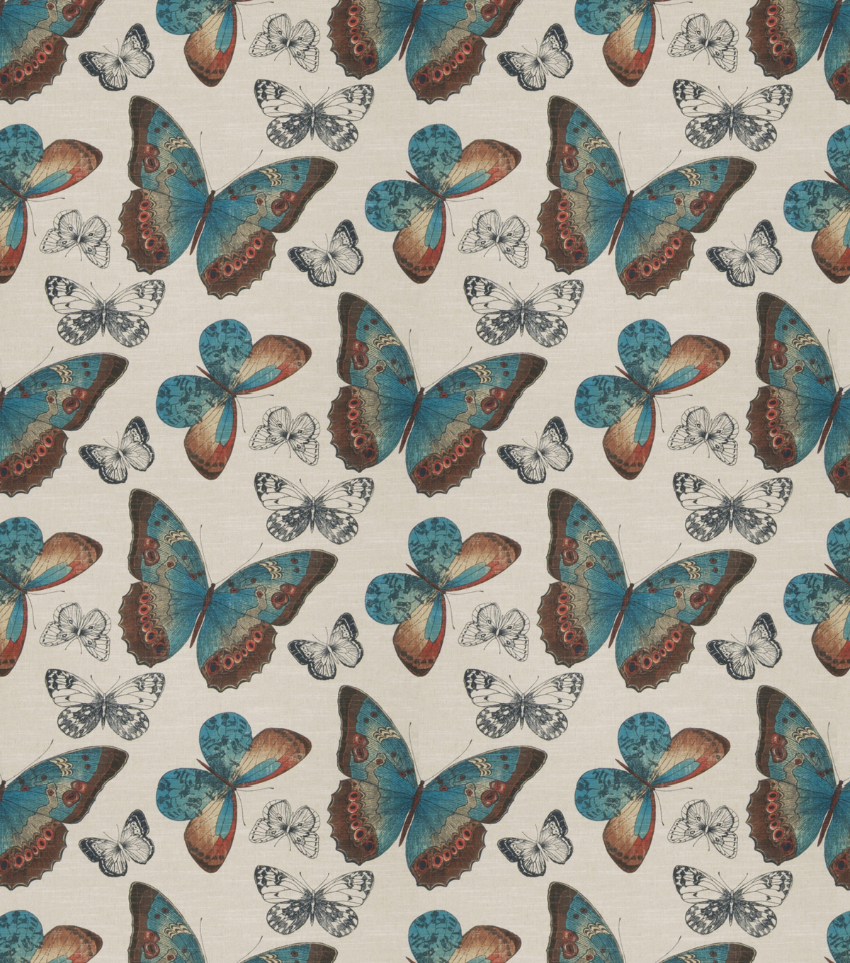 Eaton Square Lightweight Decor Fabric-Turquoise Hickory