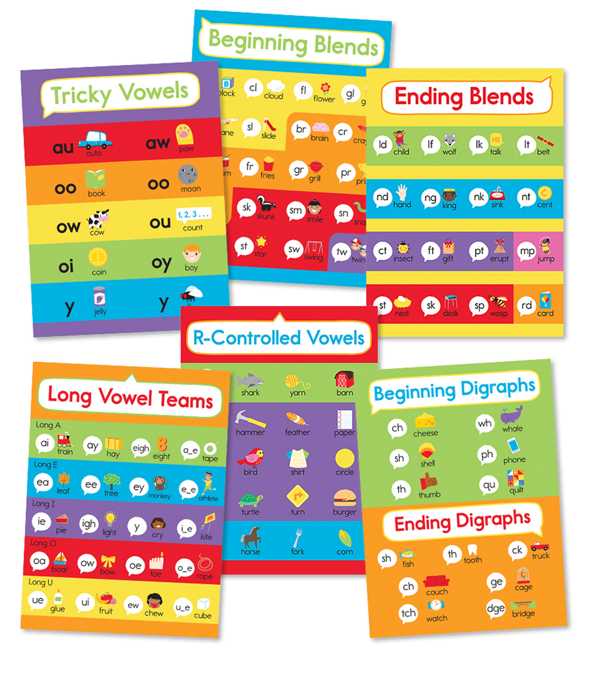 Phonics Bulletin Board Set, Grade 1-3